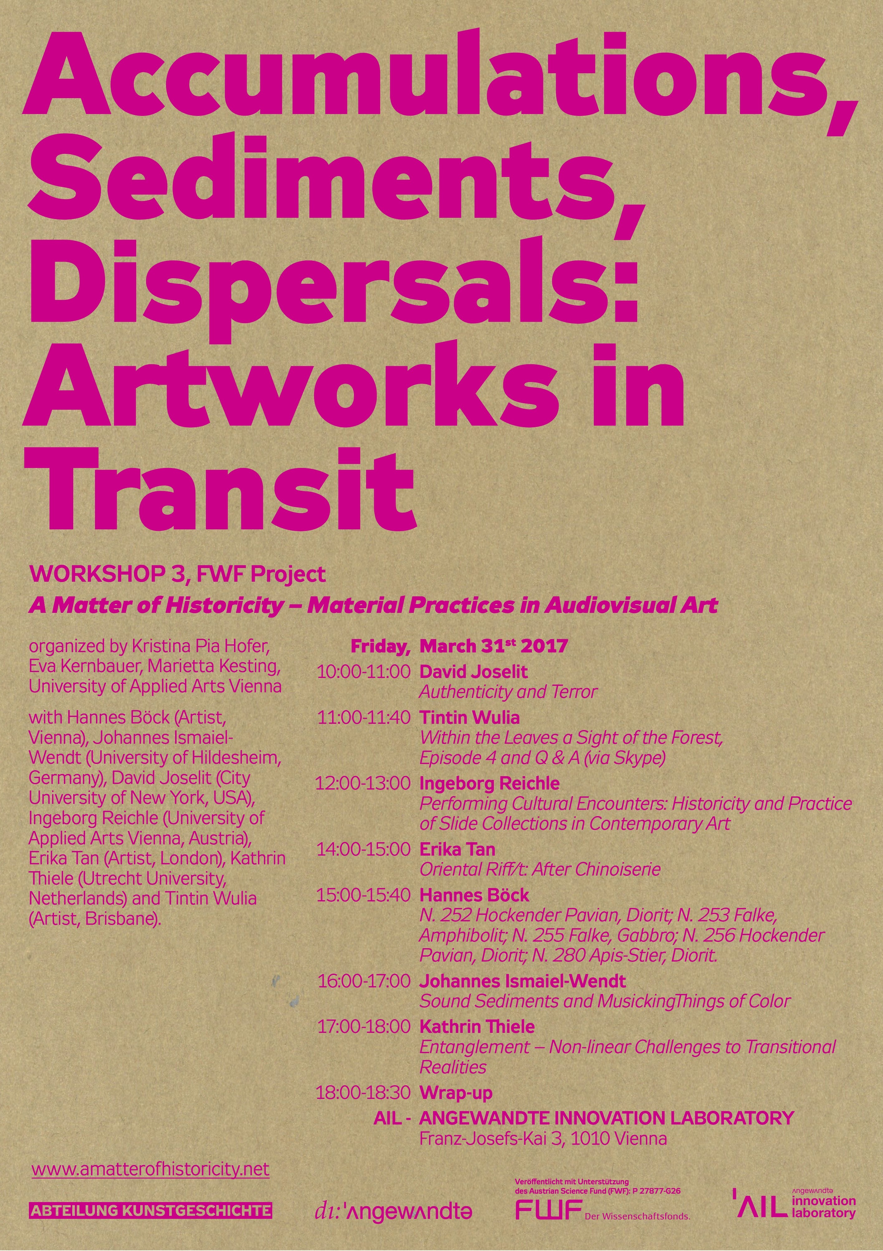 Accumulations Sediments Dispersals Artworks In Transit Plakat