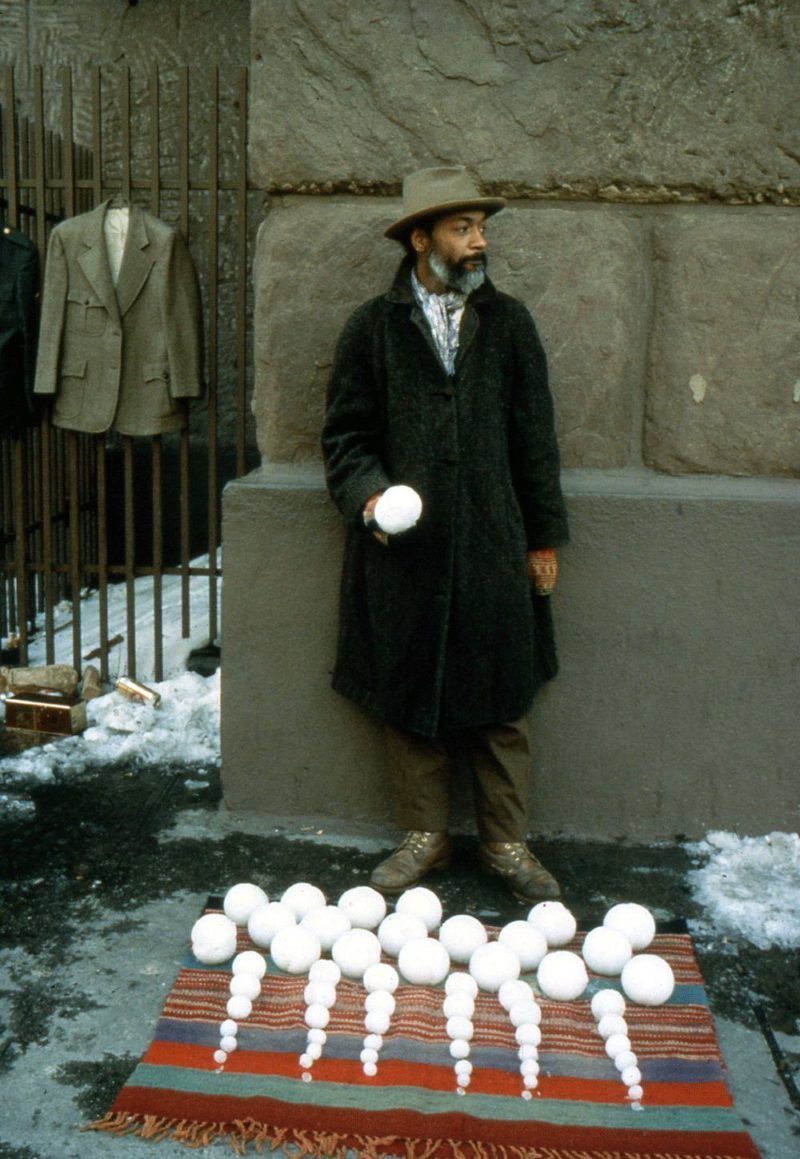 David Hammons – Bliz-aard Ball Sale, Cooper Square, New York, 1983