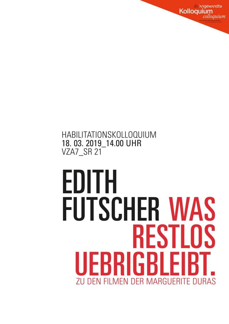 Habilitationskolloquium Edith Futscher