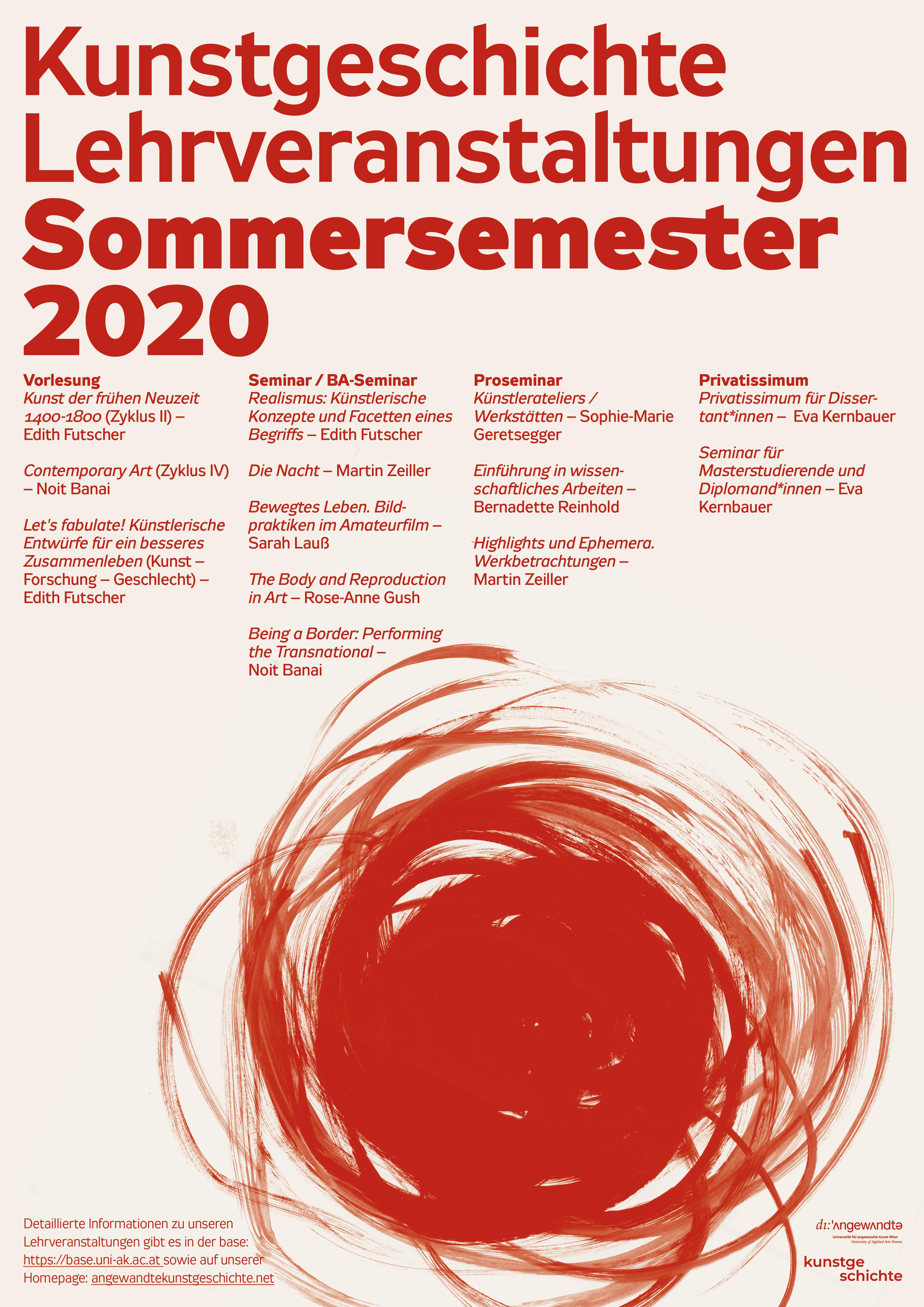 Lehrveranstaltungs Plakat SS 2020 screen