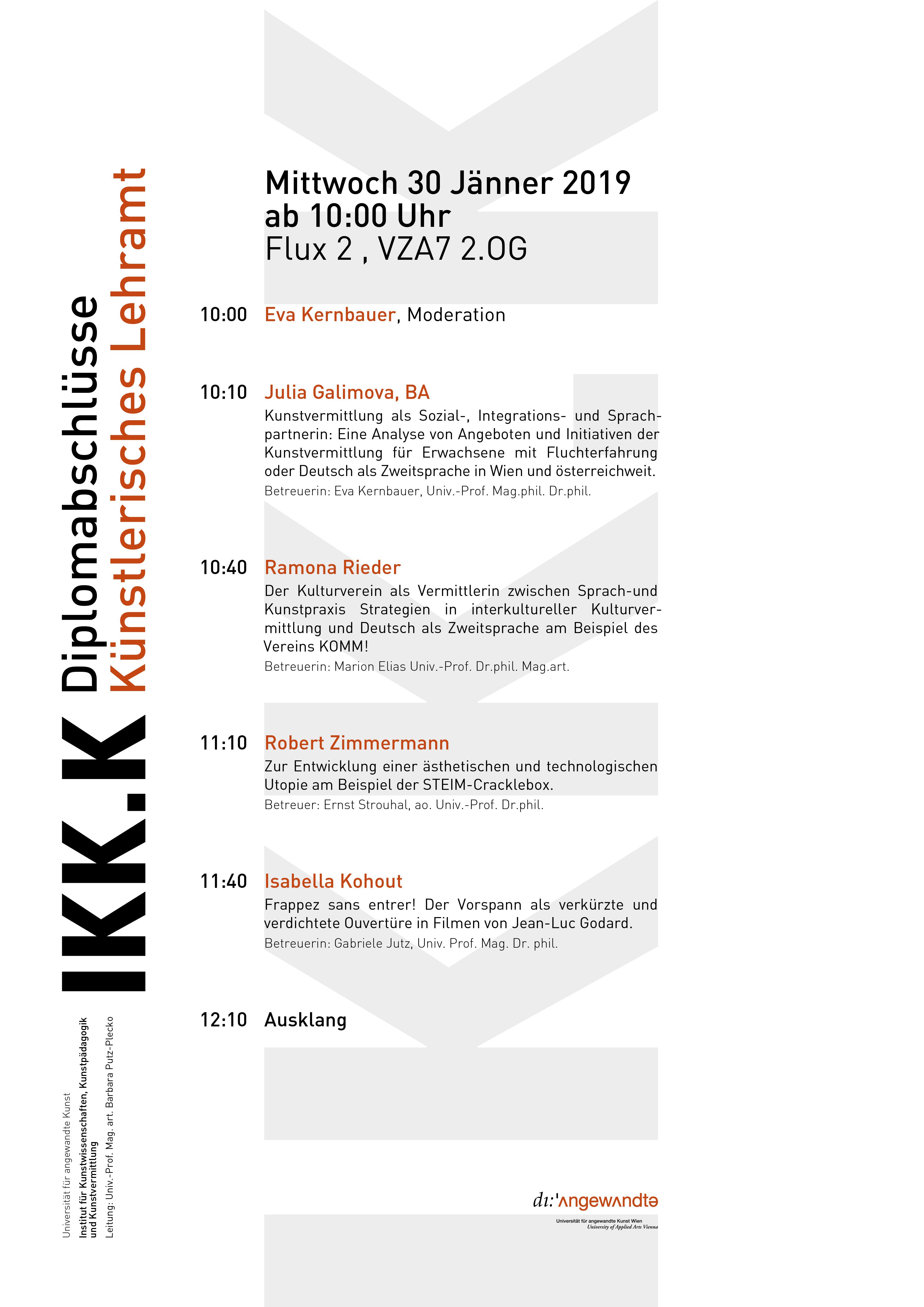 Plakat Diplome Groß