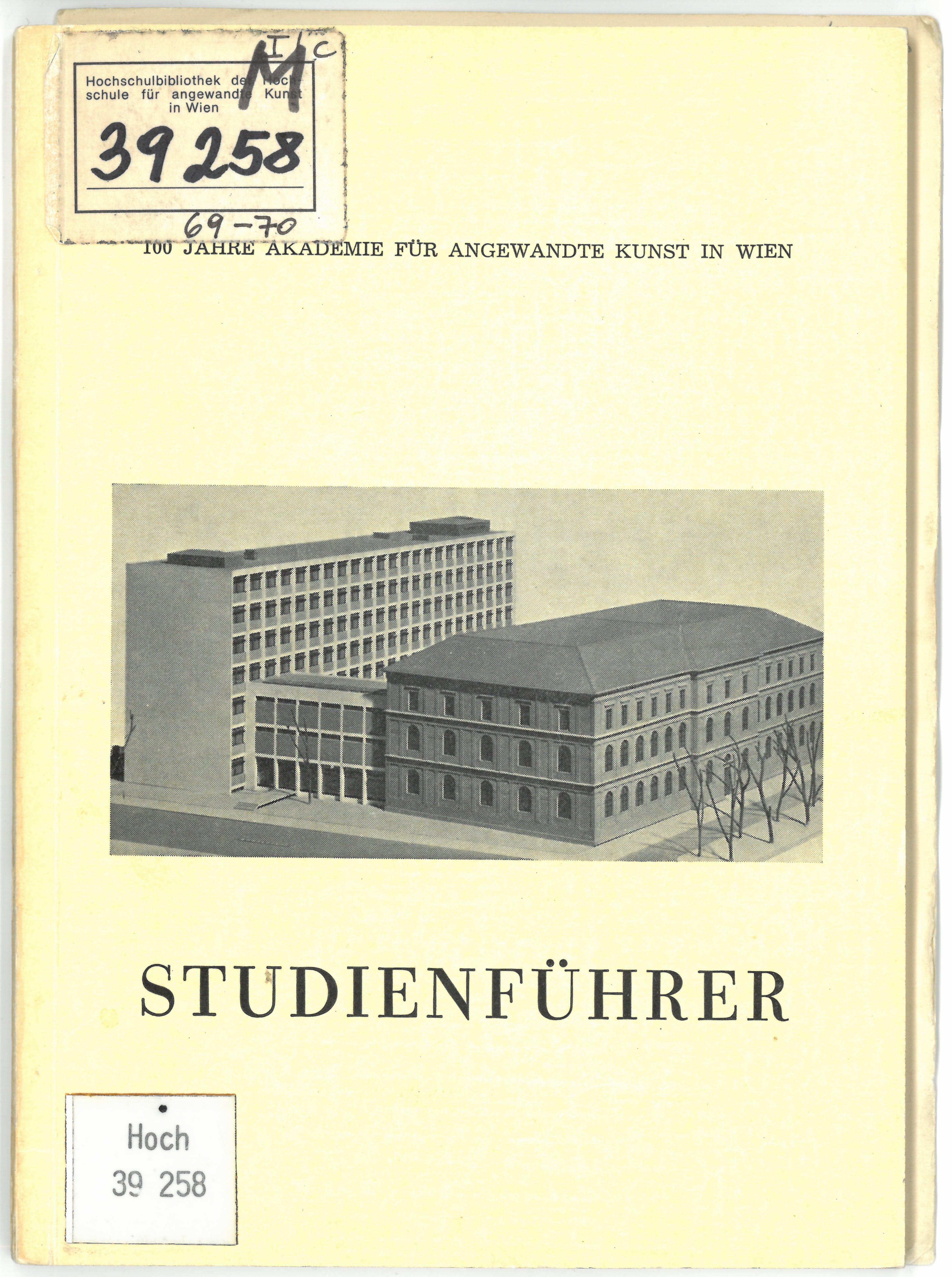Studienführer 1969